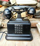 An Old Swiss Antique Telephone,first Iron Telephone With Buttons, Working Well
