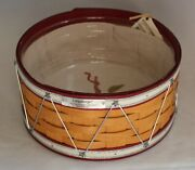 Longaberger 2012 Christmas Collection Drum Basket Red Fabric Liner Protector