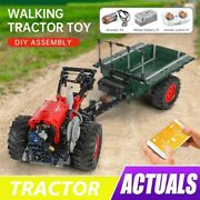 Rc Truck The Farm Tractor With Trailer Remote Control Building Blocks Car Toy