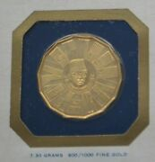 1976 Franklin Mint Malaysia 200 Ringgit Gold Proof Coin Agw .21125 Low Mintage