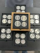 1976 Canada 28 Coin Sterling Silver Olympic Set Xxi Olympiade Montreal Free Ship