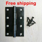 Iron Butt Hinges For Doors Windows Cupboards Free Screws 4 X 2.5 2mm Thickness