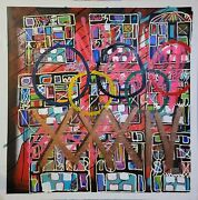 Neo Expressionism Painting Olympics Original Canvas Modernist Contemporary Art