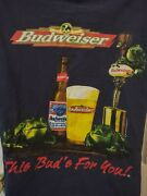 Vintage 90s Budweiser This Buds For You Frog Shirt