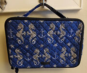 Vera Bradley Seahorse Of Course Iconic Large Blush And Brush Makeup Case--pretty