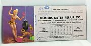 1953 Layne You Should See Them Now Pinup Girl Blotter Illinois Meter Repair 9