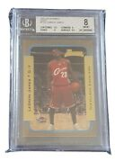Lebron James 2003-04 Topps 123 Bowman Gold Rookie Bgs 8 With 9.5 Centre