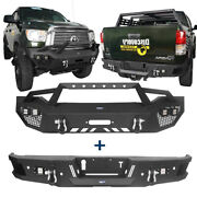 Texture Steel Full Width Front+rear Step Bumpers Combo Assembly For 07-13 Tundra