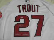 Mike Trout Signed Los Angeles Angels Jersey Mlb Authentication-millville Meteor