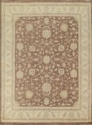 Floral Oushak-chobi Oriental Area Rug Wool Hand-knotted Living Room Carpet 8x10