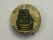 Antique Gold Dust Twins Washing Powder Pin Back Button 1880-1896
