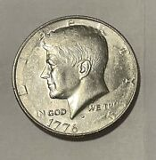 1976 D Kennedy Half Dollar Coin Strike Error Front/back Missing Date Must See