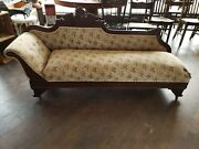Antique Fainting Couch Sofa Chaise 5 And03910 Long And 22 Wide