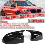 For Bmw X3 X4 X5 X6 X7 Gloss Black Side Mirror Cover Caps Replacement- M Style