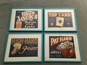 Four Fruit Crate Labels - Gambling Themed High-hand, Pat-hand, Top Card, Jacks