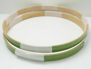 New High-end Sonor 22 Canadian Maple Bass Drum Hoops Set, Bright Green Lacquer