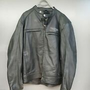 Triumph Menand039s Leather Jacket 50/60 Chest With Armour Absolutely Mint..read L/xl