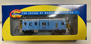Athearn Ho Scale Rtr Chessie System Safety Blue Bay Window Caboose 3842