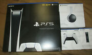 Sony Ps5 Digital Pulse Headset Controller And Charging Station And Ps Plus 1 Year