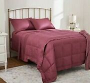 Northern Nights Qvc 400 Tc Jacquard Reverse To Solid 650 Fp Down Blanket
