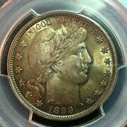 1899-p Pcgs Ms-64  Barber Half Dollar Very Attractive Toning Nice Type Coin