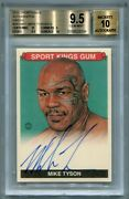 2015 Leaf Sportkings Auto Autographs Green Mike Tyson /15 Bgs 9.5