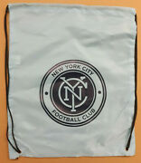 4 Nycfc Drawstring Bag/stress Reliever Soccer Ball/rubber Wristband Poster Lot