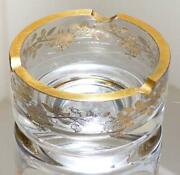 Old Baccarat 1900 About Gold Color Ashtray Art Pieces Rococo Decorative Glass