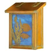 Af-1711-ob-ww Fish Vertical Mailboxand44 Wispy White - Old Brass