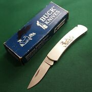 Buck Knife Made In Usa 1992 525 Whitetail Deer Picture Lockback Old Vintage