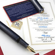 Ap Limited Editions - Color Of The Cosmos Spica Navy Blue Fountain Pen