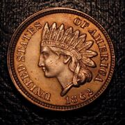 Old Us Coins Highgrade Full Liberty 1862 Indian Head Cent Civil War Penny