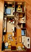Marx Tin 5025 Lift Off Roof Rooster Ranch Tin Contemporary Dollhouse And Furniture
