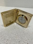 Vintage Gold Color Collectible Intel 4004 World's First Cpu Clock