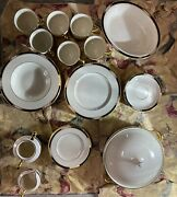 Lenox Presidential Collection China Hancock Pattern Lot Of 35 Pieces Very Nice