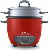 Aroma Electric Rice Cooker And Food Steamer Non Stick Pot Style Automatic 14 Cup