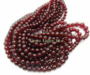 Natural Red Mozambique Garnet Ball Shape Faceted Beads 9 Strands Lot. Gv-1073