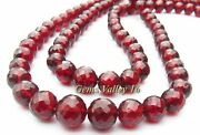 Aa+ Natural Red Mozambique Garnet Ball Shape Faceted Beads Wholesale Lot Gv-1075