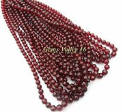 Red Mozambique Garnet Ball Shape Faceted Beads 10 Strands Wholesale Lot Gv-1076