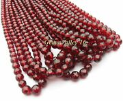 Red Mozambique Garnet Ball Shape Faceted Beads 10 Strands Wholesale Lot Gv-1077