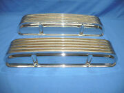 Rare Nos 1960and039s Japan Chrome Aluminum Finned Valve Covers Chevy 327 350 Day 2