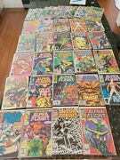 Alpha Flight Marvel Comic Lot Of 36 Copper Age Includes 2-5 And 8-39