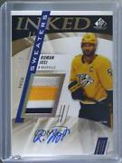 2020-21 Upper Deck Sp Game Used Inked Sweaters /10 Roman Josi Is-rj Patch Auto