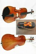 Used Advanced Violin 3/4 Size With Case And Dominant Strings,john Woo Violins