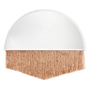 Drew Barrymore Flower Home Arch Bevel Glass Wall Mirror With Fringe