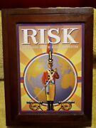 Wooden Risk Vintage Game Collection Edition Library Book Shelf Wood Box Edition