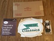 """Hallmark Kiddie Cars Classics Ceramic 15"""" By 10"""" Promo Logo Sign New In Package"""