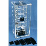Revolving Rotating Earring Display Case And 100 Black Cards
