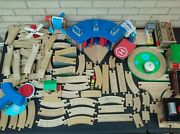 Thomas The Tank Engine And Friends Wooden Toy Train Tracks And Buildings Lot