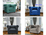 Chesterfield Single Sofa Lounge Sofa Rolling Arm Chair Tufted Couches Armchair